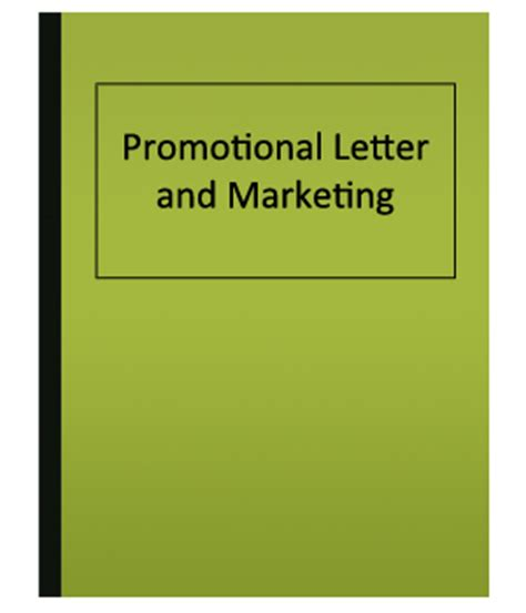 Cover letter promotions marketing